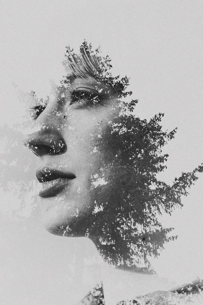Double Exposure Portraits by Sarah K. Byrne