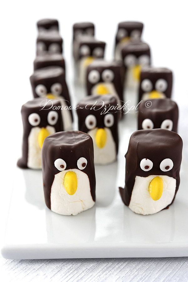 Pingwiny z pianek marshmallows