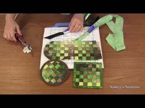 Woven Coasters - Video Tutorial, This technique looks like it might be fun to try (minus the Bali Pops)