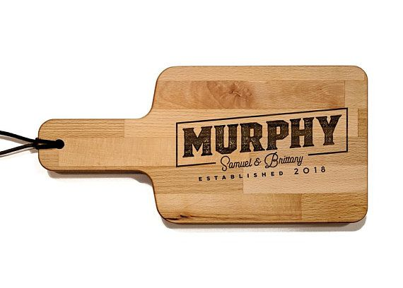 Personalized Cheese Board With Handle 6 x 11.75 inch Wood