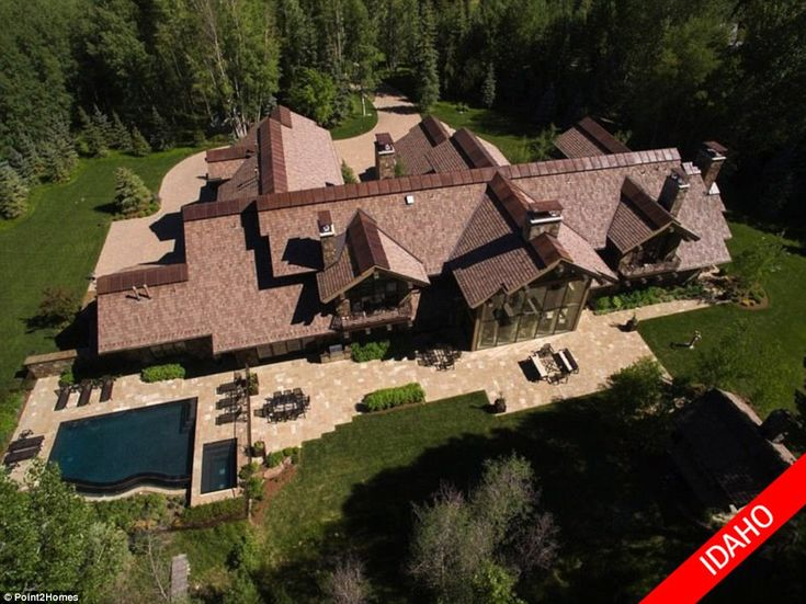 $20MILLION: In Ketchum near Sun Valley in Idaho, this 15,000 sq ft eight-bedroom timeless stone mansion is on the market