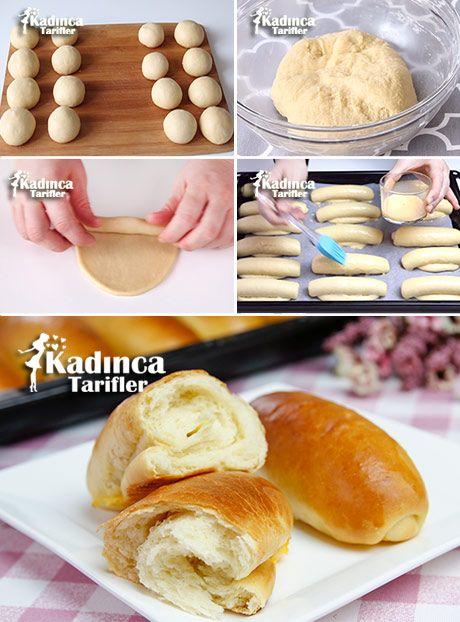 Sütlü Ballı Pamuk Ekmek (Milchbrötchen) Tarifi