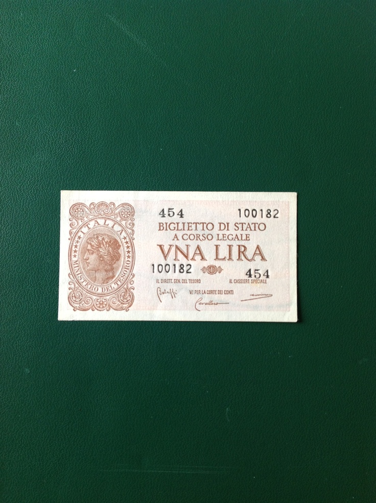 banconota italiana da 1 lira