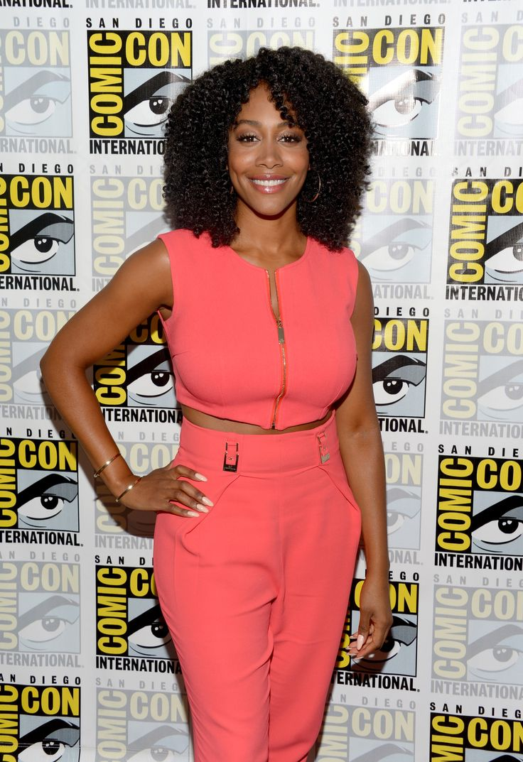 SAN DIEGO, CA - JULY 21:  Actress Simone Missick attends the 'Luke Cage' press line during Comic-Con International 2016 at Hilton San Diego Bayfront on July 21, 2016 in San Diego, California.  (Photo by Dave Mangels/Getty Images for Netflix) via @AOL_Lifestyle Read more: http://www.aol.com/article/2016/07/22/celebs-hit-comic-con-in-san-diego/21437414/?a_dgi=aolshare_pinterest#fullscreen
