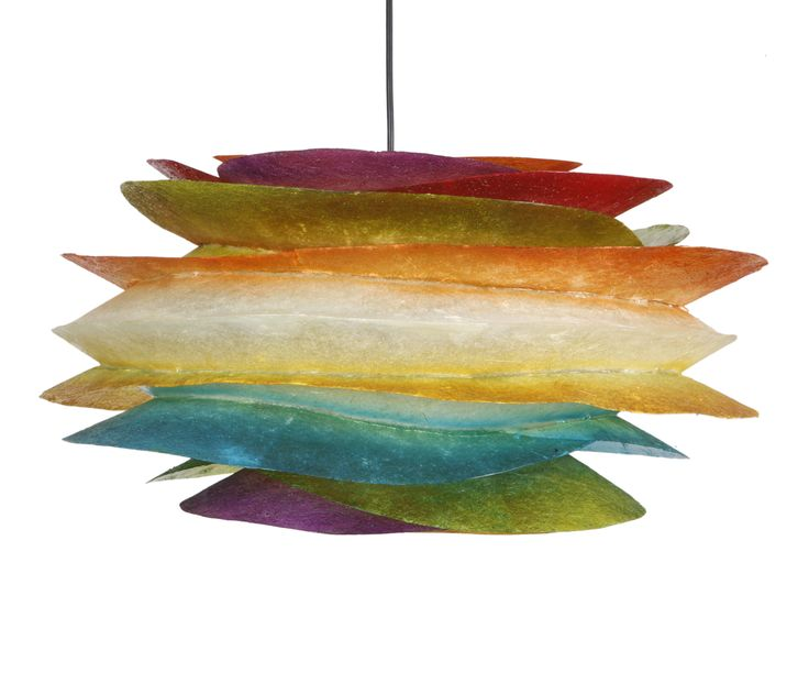 Hanging lighting fixture made out of fiberglass.  Dimensions: Height: 27cm Width: 54cm  It comes complete with an E27 bulb holder and you can use as much wattage as you need. Fiberglass can take as much wattage as you need, without any concerns.  We use 25W bulbs in our photos, so that their colors can be clearly recognisable.  For more pics, pleace cut and paste the following link: http://gshopspot.gr/product.php?product_id=2