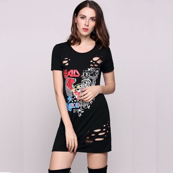 2017 Fashion Women Sexy Animal Print Short Sleeve Round Dress Ladies Collar Hole Tee Going Out Dress