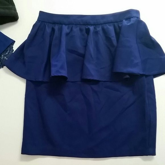 Gianni Cobalt blue peplum skirt Only worn once in pristine condition beautiful cobalt blue Skirts