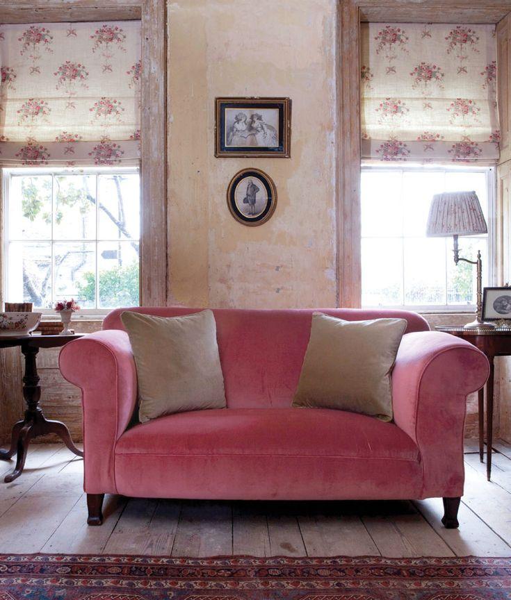 Rich raspberry sofa