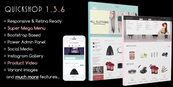 Quickshop - Responsive Fashion Shopify Theme & Template - Download Here : http://themeforest.net/item/quickshop-responsive-shopify-theme/6558987?s_rank=130&ref=yinkira