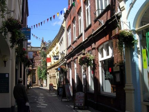 Gandy Street, Exeter - the inspiration for Diagon Alley