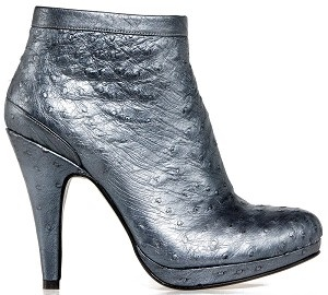 Boot ankle glamour blue metallic ostrich