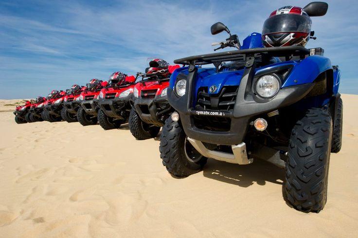 Sand Dune Adventures Quad Biking, Stockton Beach #portstephens #sanddunes