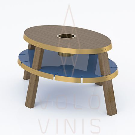 Lazuli Center Table, by VOLO VINIS. High quality contemporary wine design. Available on www.volovinis-com