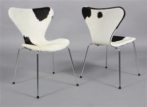 Køb og sælg moderne, klassiske og antikke møbler - Arne Jacobsen: Otte stole model 3107 (Syveren) koskind (8) - DK, Esbjerg, Oddesundvej