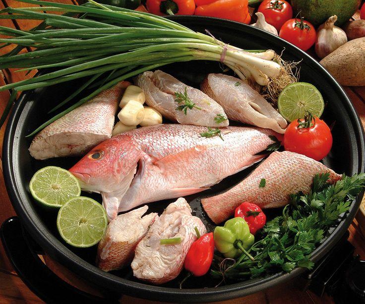 Court bouillon de poissons rouges