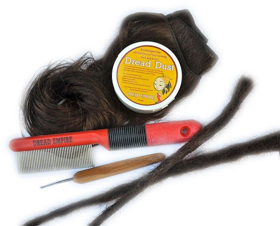 Human Hair Dreadlock Extension DIY Kit by TheDreadShop on Etsy