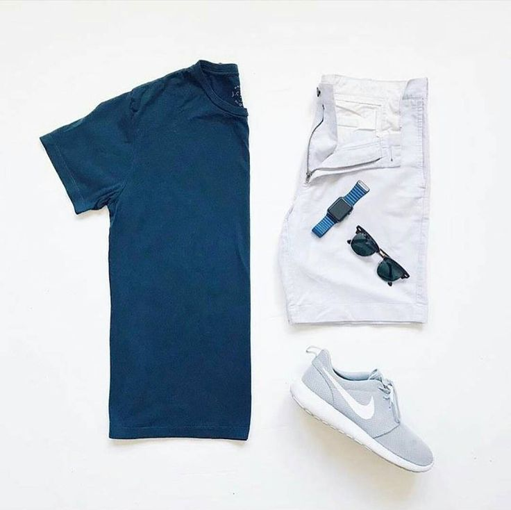 Stylish Summer Grid by @locxusa  Follow  @stylishgridgame   www.StylishGridGame.com  Brands ⤵ T-Shirt + Shorts: @jcrewmens Trainers: @nike Watch: @applemusic Sunglasses: @rayban