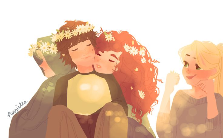 Hiccup and Merida... I didn't hear until recently about them being a couple. Weird. Shouldn't it be Hiccup and Astrid? I mean where on earth did Hiccup and Merida = <3 come from?!?!?