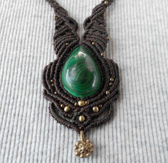 #Collar macrame Handmade macrame #necklace #Macrame por GipsyCrafts