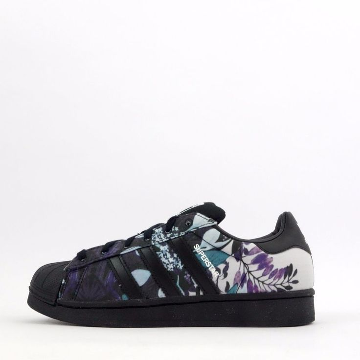 adidas Originals Superstar Florera Women's Shell Toe Floral Trainers Shoes in…