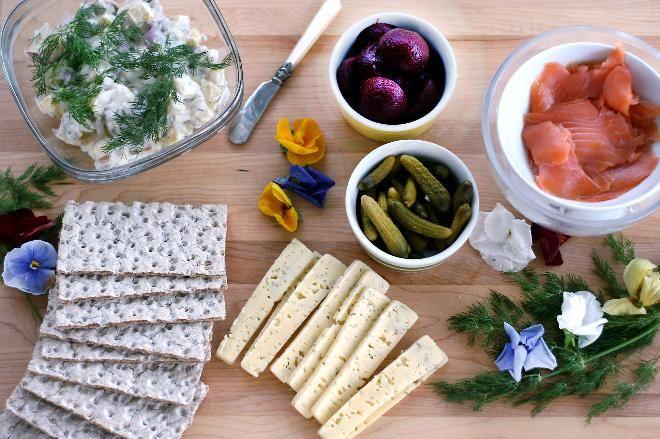 Scandinavian Midsummer food