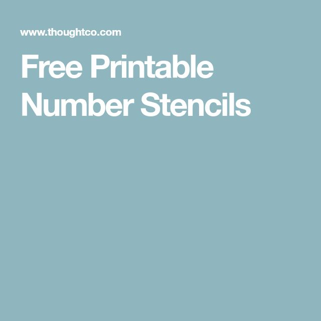 The 25+ best Number stencils ideas on Pinterest Number template - numbers templates free