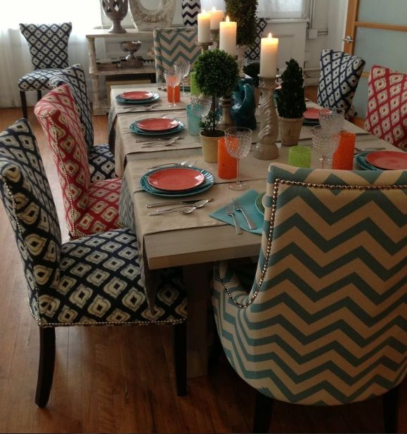 Dining Room Chair Fabric Ideas | Fabric dining chairs ...