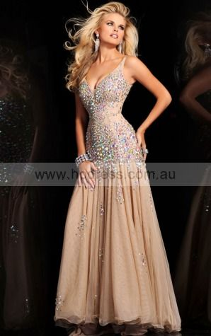 Deep V-neck Sleeveless Mermaid Zipper Floor-length Evening Dresses adba307004--Hodress