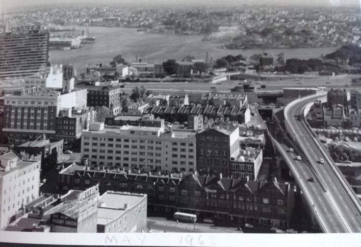 George St and Cahill Expressway. 1962