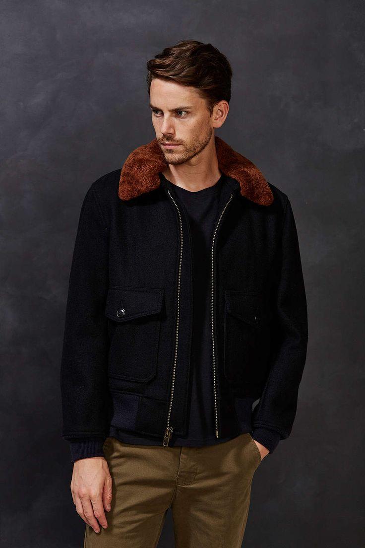 Schott Plaid-Lined Jacket
