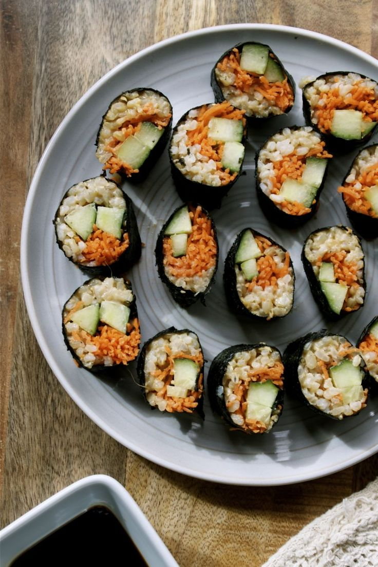 veggie sushi rolls | Successful recipes | Pinterest