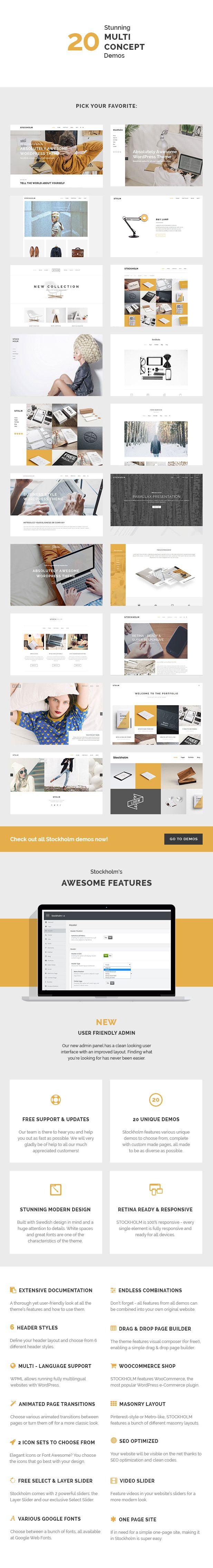 WordPress - Stockholm - A Genuinely Multi-Concept Theme | ThemeForest