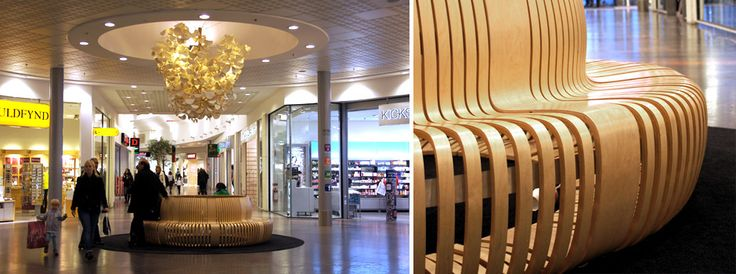 Green Furniture Sweden- Multi C & Leaf lamp- Nova Lund Shopping mall, Lund Sweden  #greenfurnituresweden #greenfurniture #ecofurniture #ecodesign #multic #leaflamp #novalund #shoppingmall