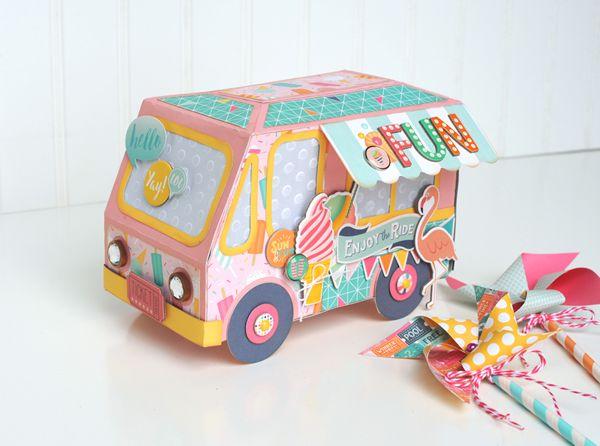Jana Eubank ~ Echo Park Summer Dreams Ice Cream Truck Treat Box