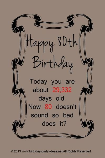 80th Birthday Quotes | 80th birthday party