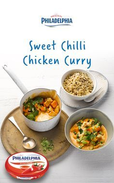 This sweet chilli chicken recipe will change the way you make curry. If you've never thought of using cream cheese then this light and creamy recipe will be a delicious surprise.