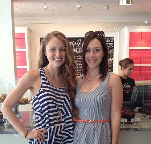 Erinn Weatherbie from Kelly's Bake Shoppe with a very happy fan!