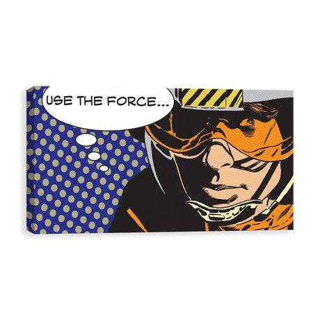 "Star Wars Pop Art // Luke Use The Force (24""W x 12""H x 1.25""D)"