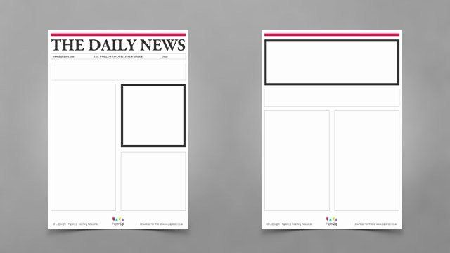 Newspaper Front Page Template Awesome Blank Newspaper Templates Paperzip Newspaper Template Blank Newspaper Article Template