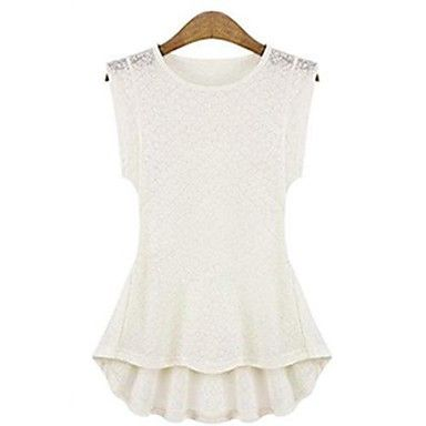 Womens Lace Bodycon Casual Summer Breathe Technology™ Tank Top White