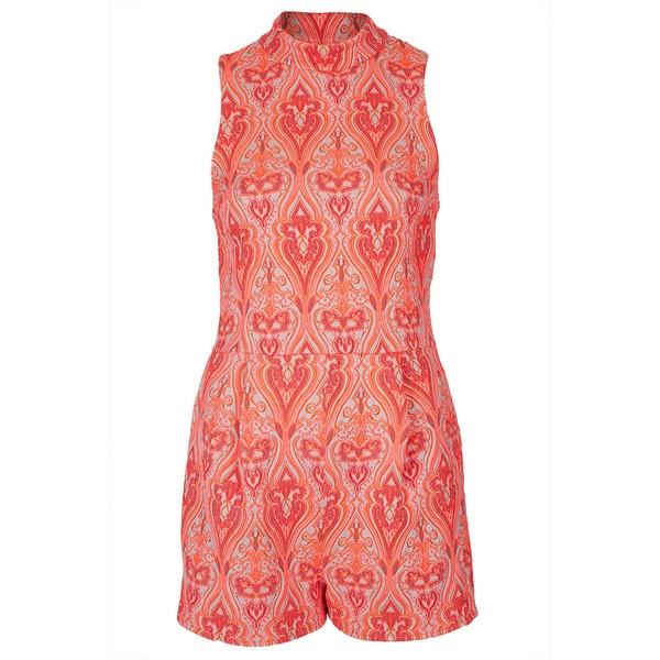 TOPSHOP Paisley Jacquard Playsuit ($130) ❤ liked on Polyvore