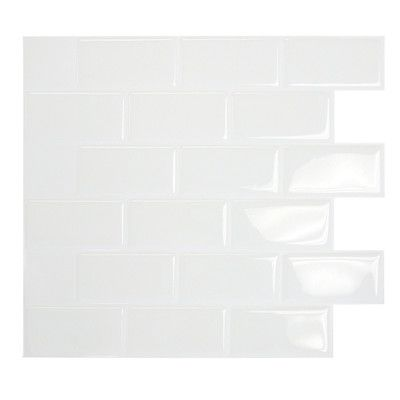Mosaik Self Adhesive Wall Tile in Subway $5 a sheet -each sheet is a little less that 1 sq ft. (My possible new back splash)