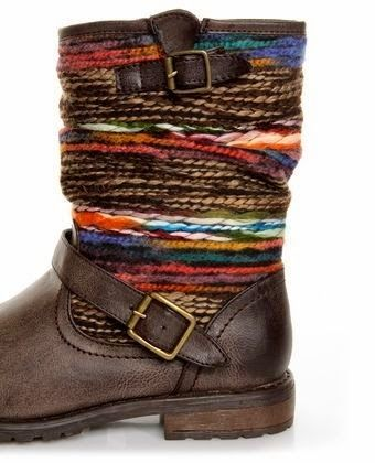 These boots would be so cute with a pair of red skinny jeans, and a cream sweater