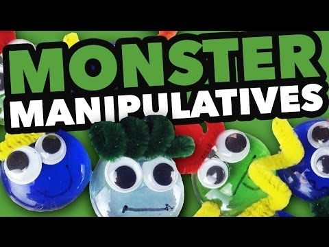 Learn how to make monster manipulatives that can be used in math lessons and games.