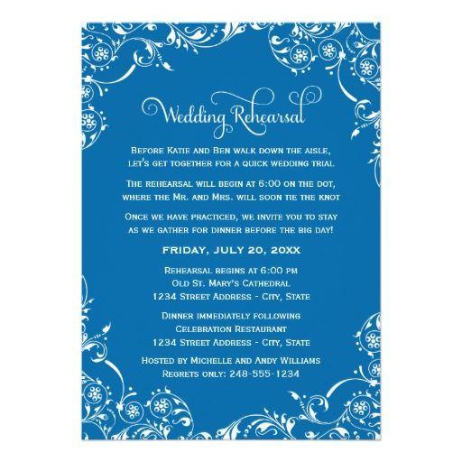 139 best Cobalt Blue Wedding Invitations images on Pinterest - invitation card for get together