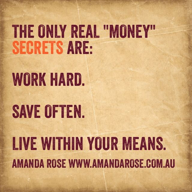 The only real money secret!