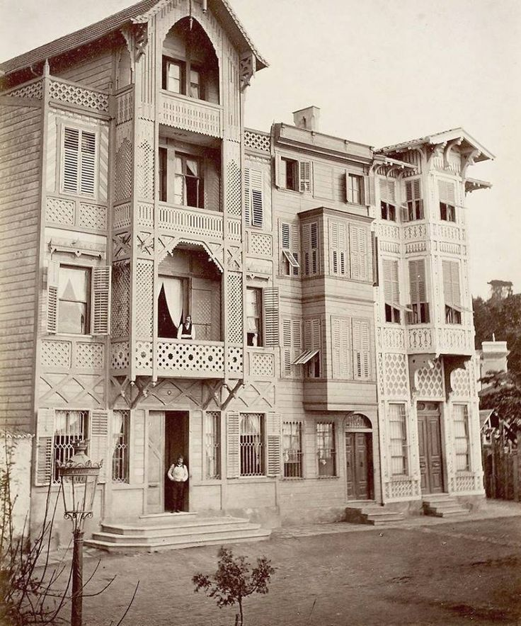 A WOODEN MANSION IN OTTOMAN ISTANBUL, 1880s
