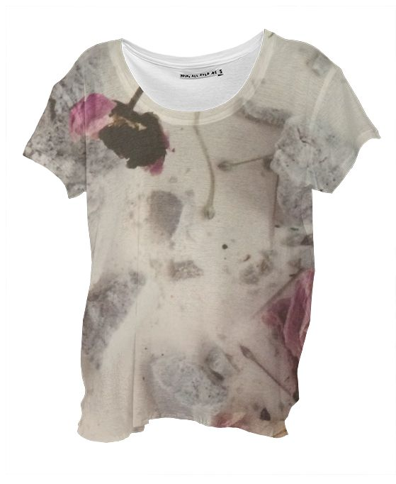 FLOWERBOMB Drape Shirt By Anja Popp $48.00