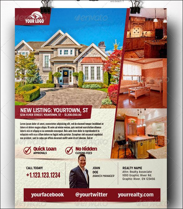Best Real Estate Flyer Design Templates Images On Pinterest - Free real estate flyer templates download
