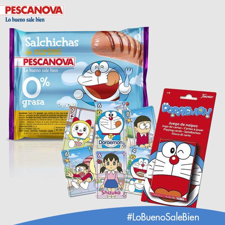 ¿Has probado ya las nuevas Salchichas de Surimi Pescanova? ¡Disfruta de su delicioso sabor y descubre como ganar una fantástica baraja de cartas de Doraemon!